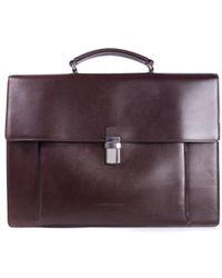 Brunello Cucinelli - Men's Classic Brown Leather Briefcase - Lyst