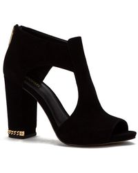 MICHAEL Michael Kors | Womens Sabrina Suede Open Toe Ankle Fashion Boots | Lyst