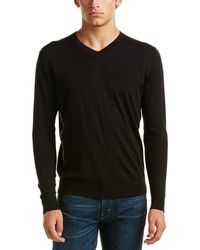 Kinross Cashmere - Forte V-neck Silk-blend Jumper - Lyst