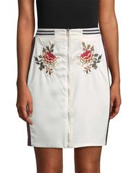 Endless Rose - Rose Embroidered Patch Pencil Skirt - Lyst