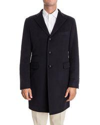 Tagliatore - Men's Blue Cashmere Coat - Lyst