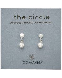 Dogeared - Circle Collection Silver Earrings - Lyst