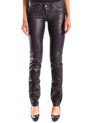 John Galliano - Women's Mcbi130058o Black Cotton Jeans - Lyst