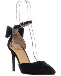Material Girl - Mg35 Pamer Ankle Strap Heels, Black - Lyst