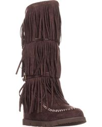 Mojo Moxy - Dolce By Crossbow Slouch Boots, Espresso - Lyst