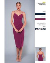 Lumier - Amaranth Tuck Bodice Dress - Lyst