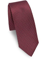 Saks Fifth Avenue - Made In Italy Dotted Circle Silk Tie - Lyst