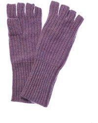 White + Warren - Lavender Dream Heater Cashmere Fingerless Gloves - Lyst