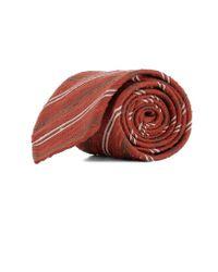 Lardini - Men's Red Silk Tie - Lyst