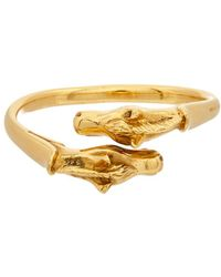Hermès | Gold-tone Double Horsehead Bangle | Lyst