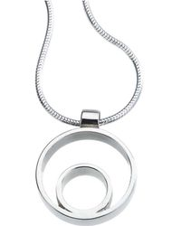 Jewelista - Sterling Silver Small Circle Pendant - Lyst