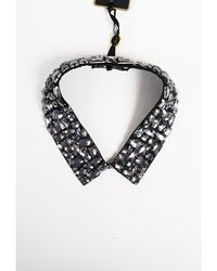 Ted Baker - Black Beaded Collar Necklace - Lyst
