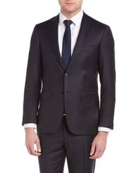 Canali - Suit With Flat Front Pant - Lyst