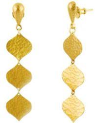Gurhan - Clove Flake Triple Drop Earrings - Lyst