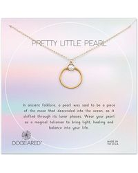 Dogeared - Core 14k Over Silver 3mm Pearl Necklace - Lyst