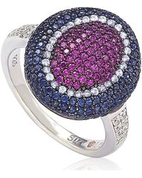 Suzy Levian - Sterling Silver Cubic Zirconia Multi Color Ring - Lyst