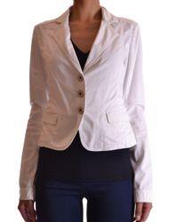 Blugirl Blumarine - Women's White Cotton Blazer - Lyst