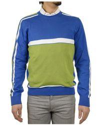 Etro - Men's Blue/green Cotton Sweatshirt - Lyst
