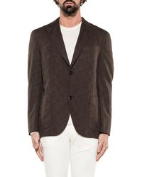Boglioli - Men's Brown Cotton Blazer - Lyst