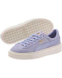 PUMA - Women's Suede Platform Mono Satin Sneaker - Lyst