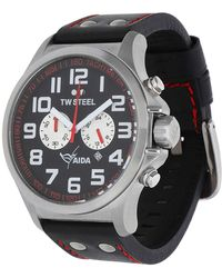 TW Steel - Watch Aida Collection Chronograph Black Tw-882 - Lyst
