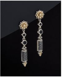 Konstantino - Asteri 18k & Silver 2.39 Ct. Tw. Diamond & Black Onyx Drop Earrings - Lyst