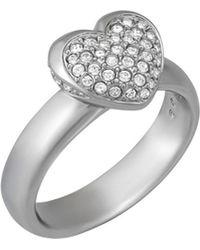 Swarovski - Crystal Even Plated Ring - Lyst
