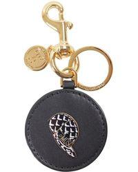 Moschino | Women's Black Leather Key Chain | Lyst