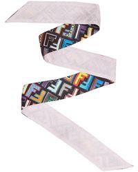 Fendi - Women's Black Silk Bracelet - Lyst