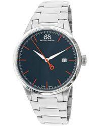 88 Rue Du Rhone - Men's Rive 87wa154103 Silver Stainless-steel Swiss Quartz Dress Watch - Lyst