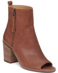 Lucky Brand - Kamren Leather Peep-toe Bootie - Lyst