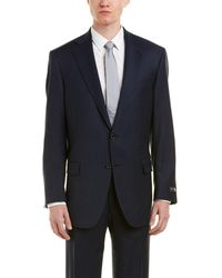 Hart Schaffner Marx - Chicago Classic Fit Wool-blend Suit With Flat Front Pant - Lyst