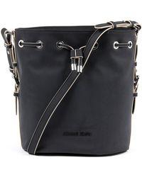 b0723bc4a56 Armani Jeans White Star Small Crossbody Bag in Black - Lyst