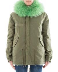 Mr & Mrs Italy - Women's Green Cotton Jacket - Lyst