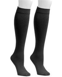 Muk Luks - Women's Fleece Lined 2-pair Pack Knee High Socks - Lyst