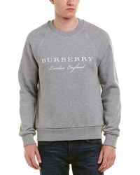 Burberry - Embroidered Jersey Sweatshirt - Lyst