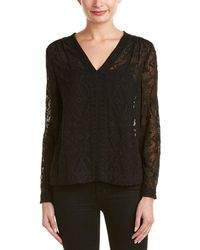 Rebecca Taylor - Aztec Embroidered Silk Top - Lyst