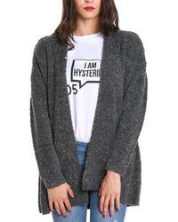 Sun 68 - Women's Grey Wool Cardigan - Lyst