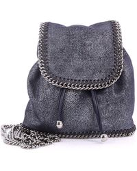 Stella McCartney - Pre Owned Falabella Backpack Shaggy Deer Mini - Lyst