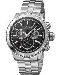 Roberto Cavalli - Rc-39 Swiss Made Men's Quartz Silver Stainless Steel Bracelet Watch - Lyst
