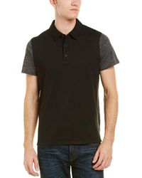 Vince - Mixed Media Polo - Lyst