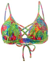 Phax - Triangle Swimsuit Tropicana Sunset Multicolor - Lyst