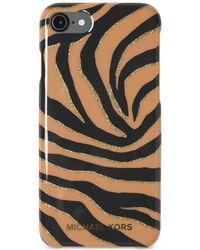 Michael Kors - Striped Glitter Plastic Iphone 7 Snap-on Case - Lyst