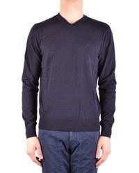 Armani Jeans - Men's Blue Cotton Sweater - Lyst