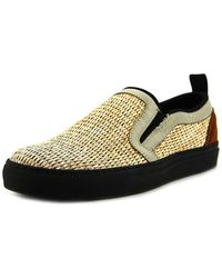 MSGM - 2040ms04 Men Round Toe Canvas Tan Loafer - Lyst