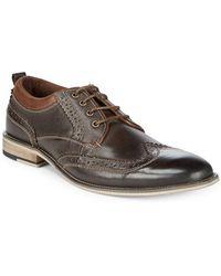 Steve Madden - Jorah Leather Derby Shoes - Lyst