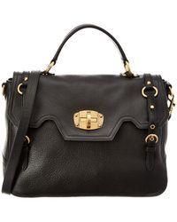 Miu Miu - Cervo Turnlock Leather Top Handle Bag - Lyst