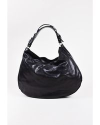 Ralph Lauren - 1 Black & Silver Tone Leather Hobo Bag - Lyst