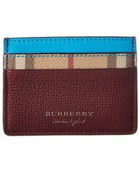 Burberry - Haymarket Check & Two-tone Leather Card Case - Lyst