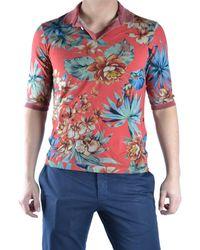 Incotex - Men's Mcbi154011o Red Cotton Polo Shirt - Lyst